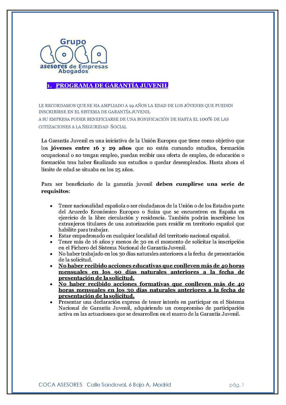 DOSSIER COCA ASESORES DESAYUNO INFORMATIVO